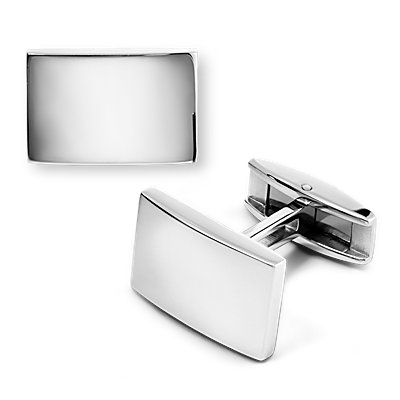 Plain Polished Cuff Links in Stainless Steel