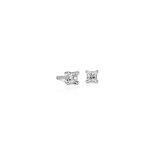 18k White Gold Princess-Cut Diamond Stud Earrings (1/4 ct. tw.)