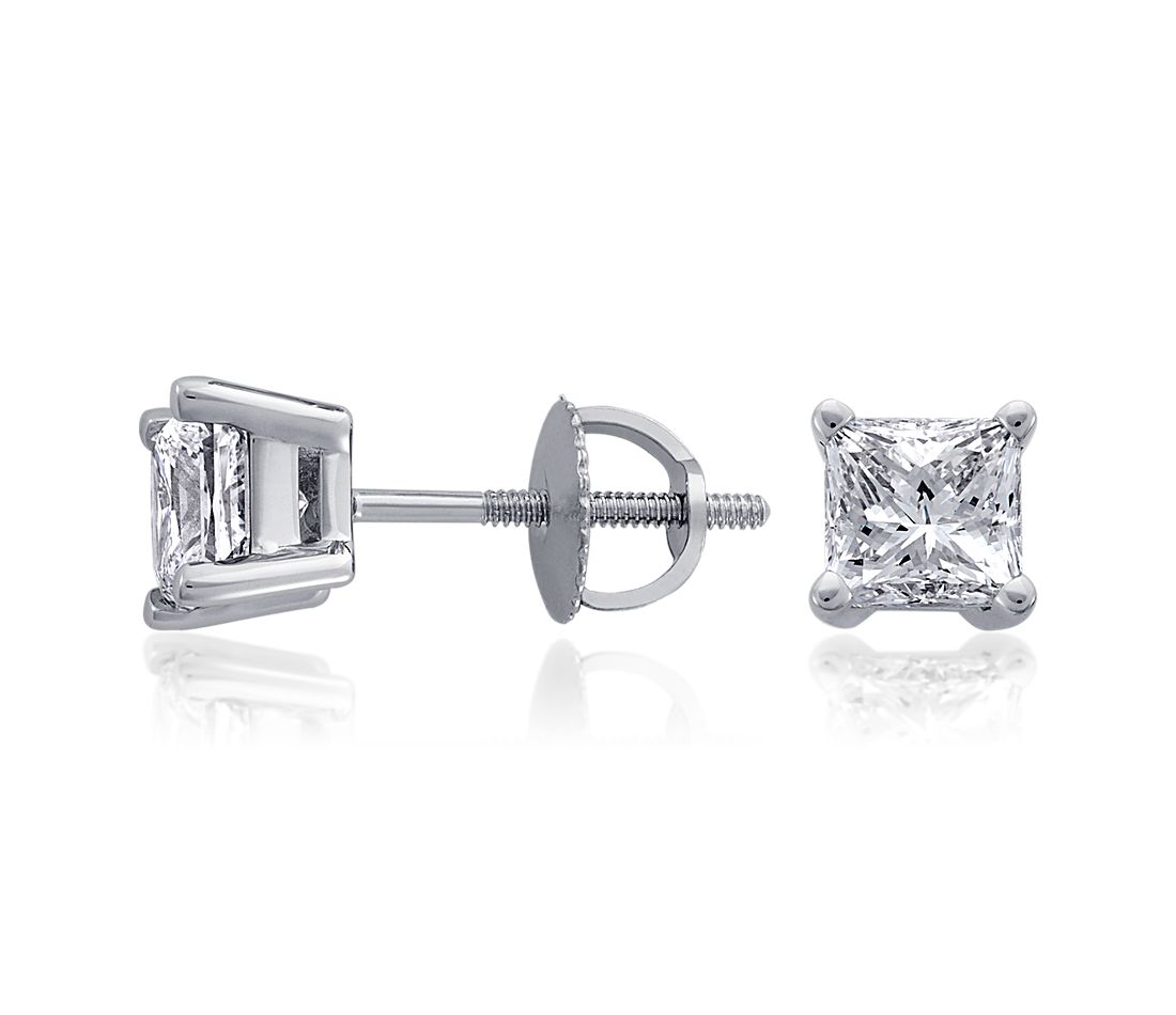 Princess-Cut Diamond Earrings in Platinum (4 ct. tw.)