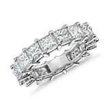 Princess Cut Diamond Eternity Ring in Platinum (5.50 ct. tw.)