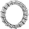 Bague d'éternité diamant taille princesse en platine (5,50carats, poids total)