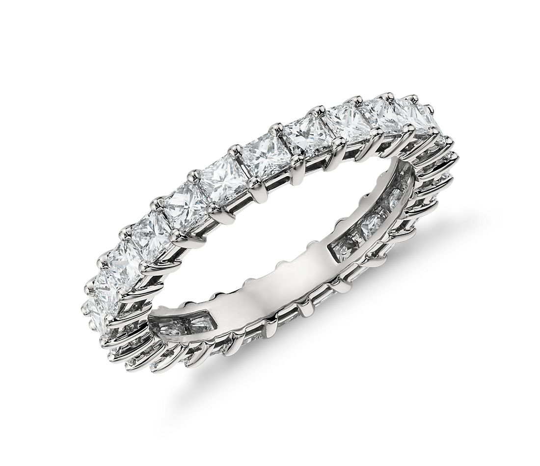 princess cut diamond eternity ring in platinum 2 ct tw. Black Bedroom Furniture Sets. Home Design Ideas