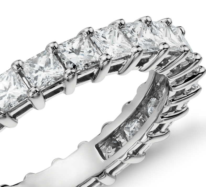 Princess Cut Diamond Eternity Ring in Platinum (2 ct. tw.)