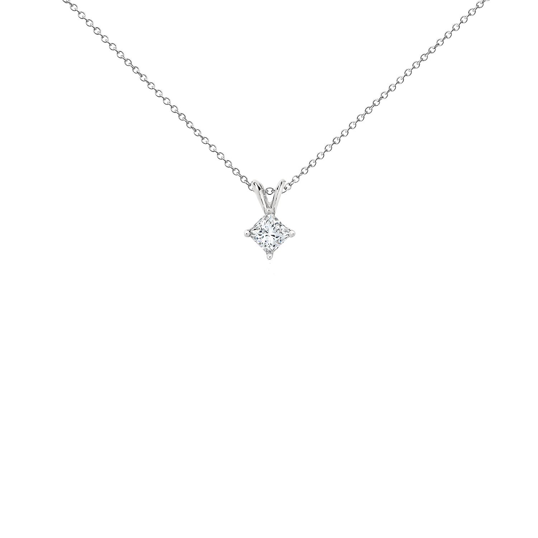 Pendentifs diamant taille princesse en platine (1/2carat, poids total)