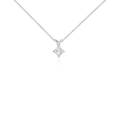 Pendentifs diamant taille princesse en platine (1carat, poids total)