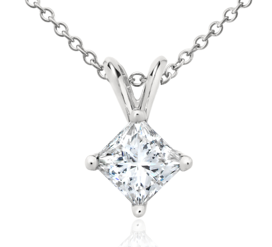 Princess-Cut Diamond Pendant in Platinum (1 ct. tw.)