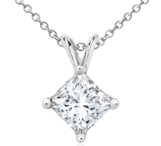 Princess-Cut Diamond Pendant in Platinum (2 ct. tw.)