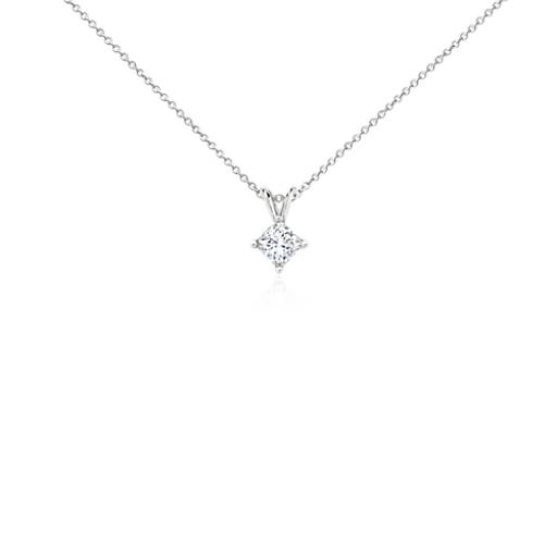 Platinum Four-Claw Princess Diamond Pendant (3/4 ct. tw.)