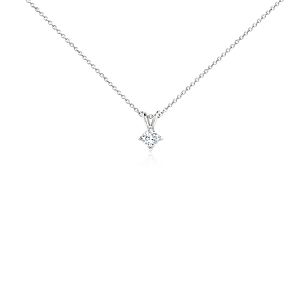 Platinum Four-Claw Princess Diamond Pendant (1/3 ct. tw.)