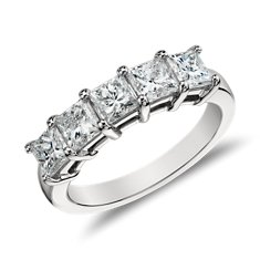 Five-Stone Princess-Cut Diamond Ring in Platinum (2 ct. tw.)