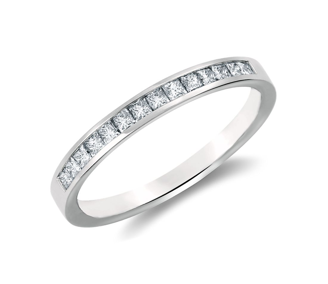 Channel Set Princess Cut Diamond Ring In Platinum (1/3 Ct
