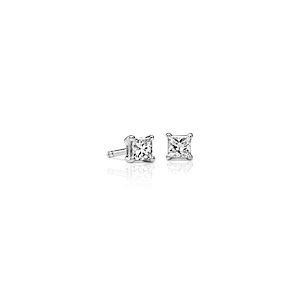 Diamond Princess Stud Earrings in 18kt White Gold  (3/8 ct. tw.) - F / VS