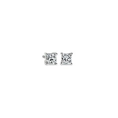 Princess-Cut Diamond Stud Earrings in 14k White Gold (3/4 ct. tw.)