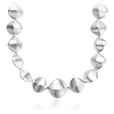 Twisted Pebble Necklace in Plata de ley