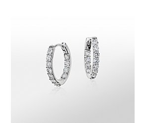 Monique Lhuillier Diamond Hoop Earrings