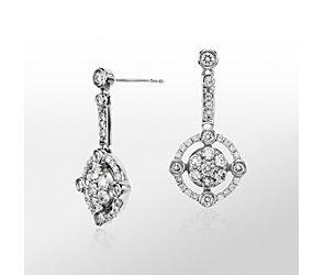 Monique Lhuillier Deco-Inspired Diamond Earrings