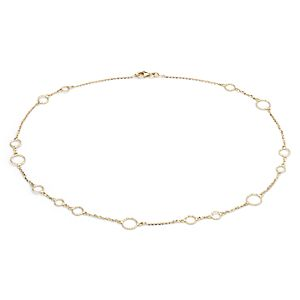 Circle Necklace in 14k Yellow Gold