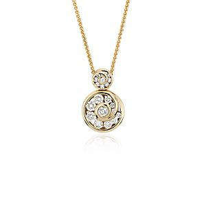 NEW Blue Nile Studio Spiral Diamond Pendant in 18k Yellow Gold (1/2 ct. tw.)