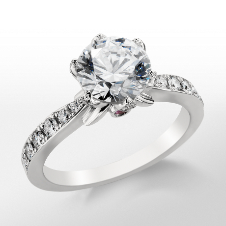 Monique Lhuillier Pavé Petal Engagement Ring