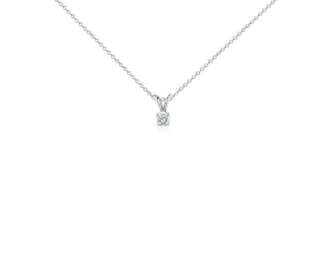 Platinum Four-Claw Double-Bail Diamond Pendant (1/3 ct. tw.)