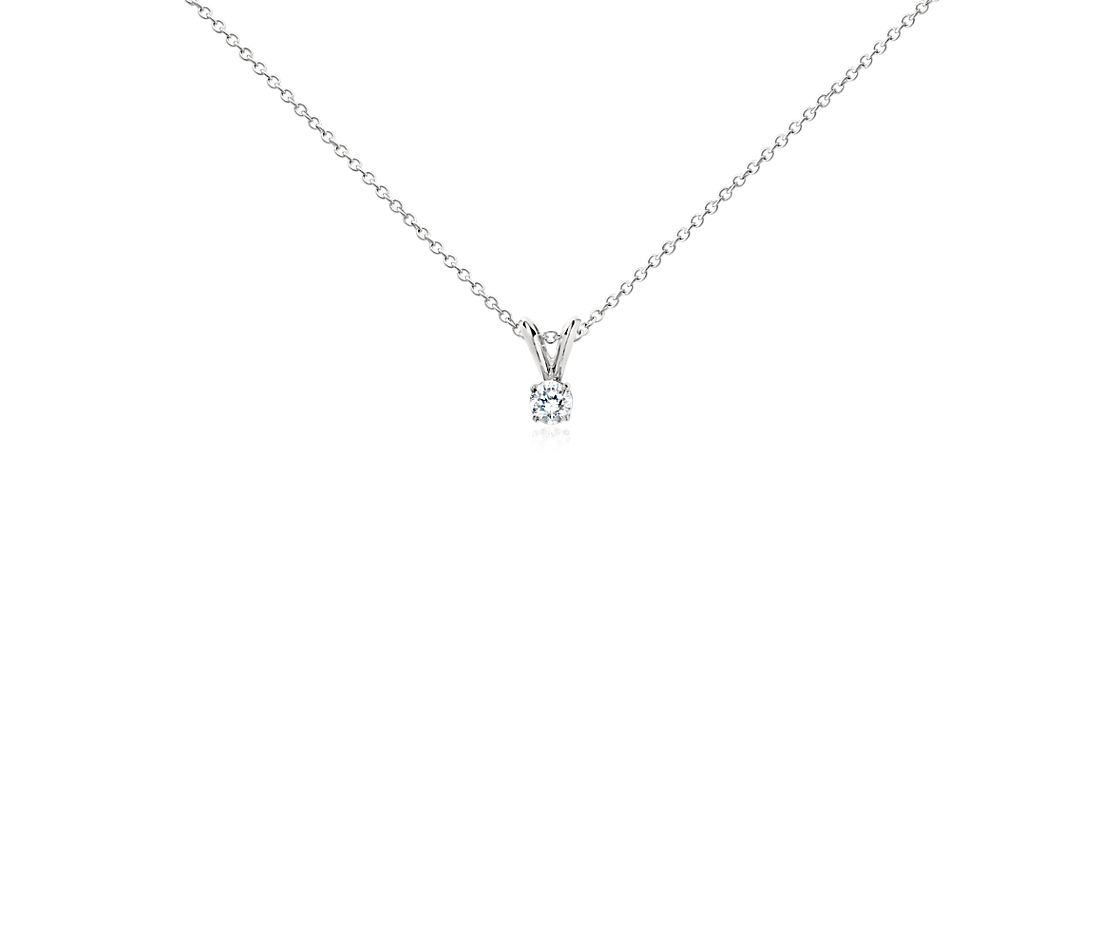 Platinum Four-Claw Double-Bail Diamond Pendant (1/4 ct. tw.)