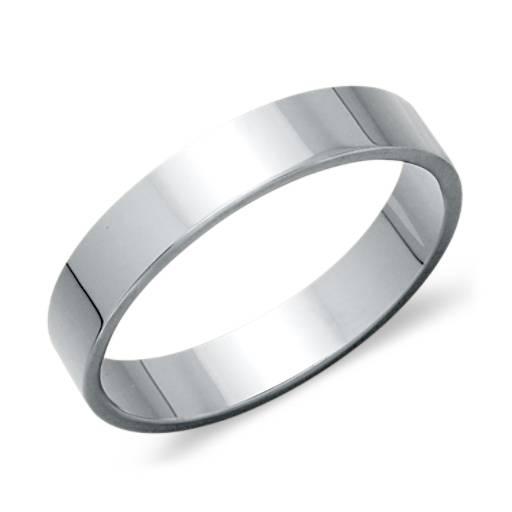 Flat Wedding Ring in Platinum (4mm)