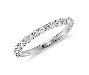 U-Prong Diamond Ring in Platinum (1/3 ct. tw.)