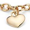Puffed Heart Tag Bracelet in 14k Yellow Gold