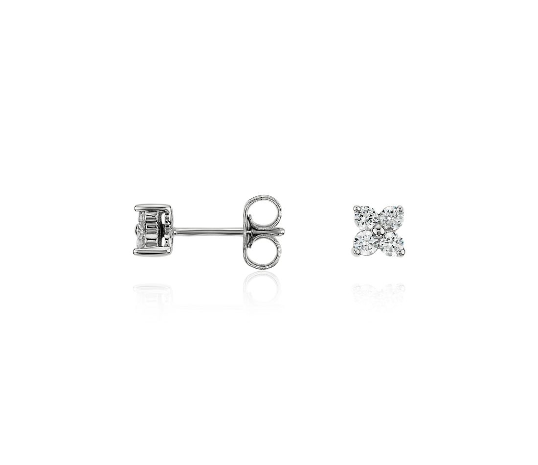 Quad Diamond Earrings in 14k White Gold (1/3 ct. tw.)