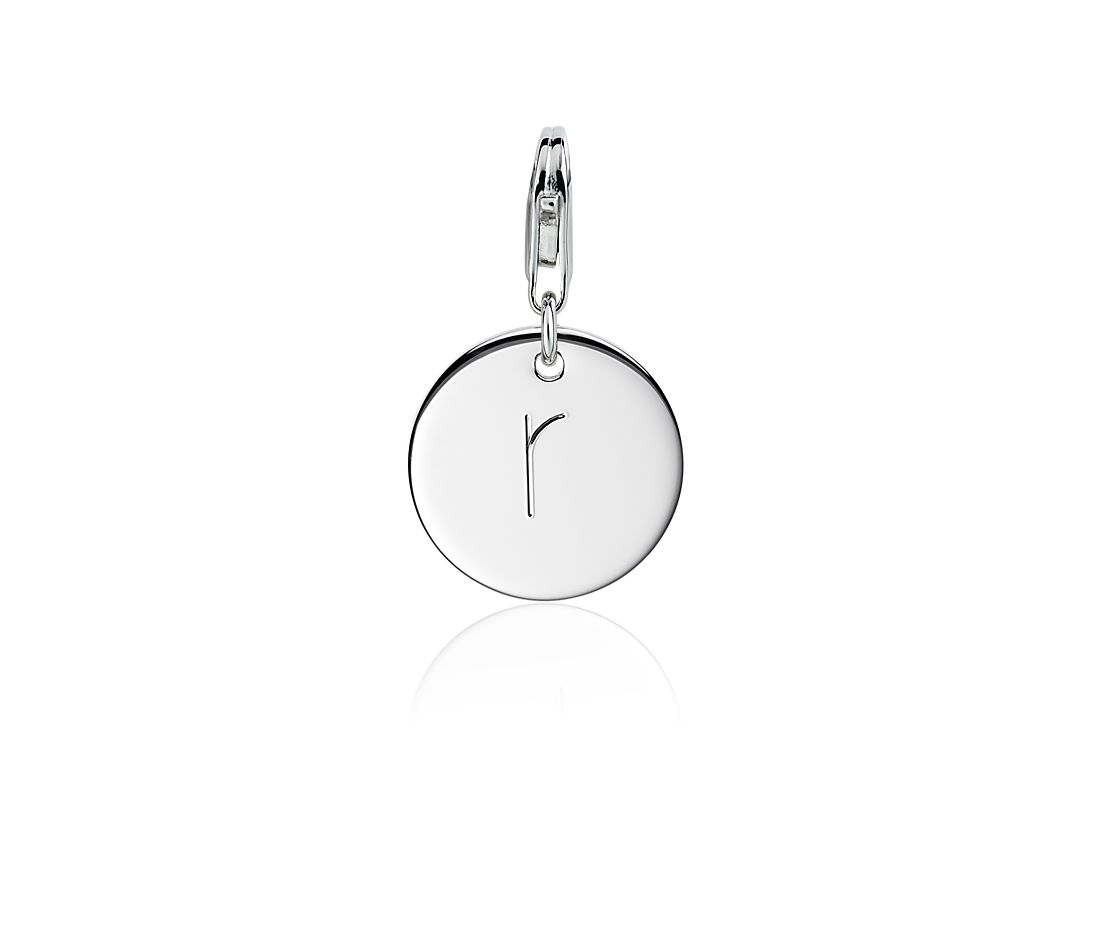"""""""R"""" Initial Charm in Sterling Silver"""