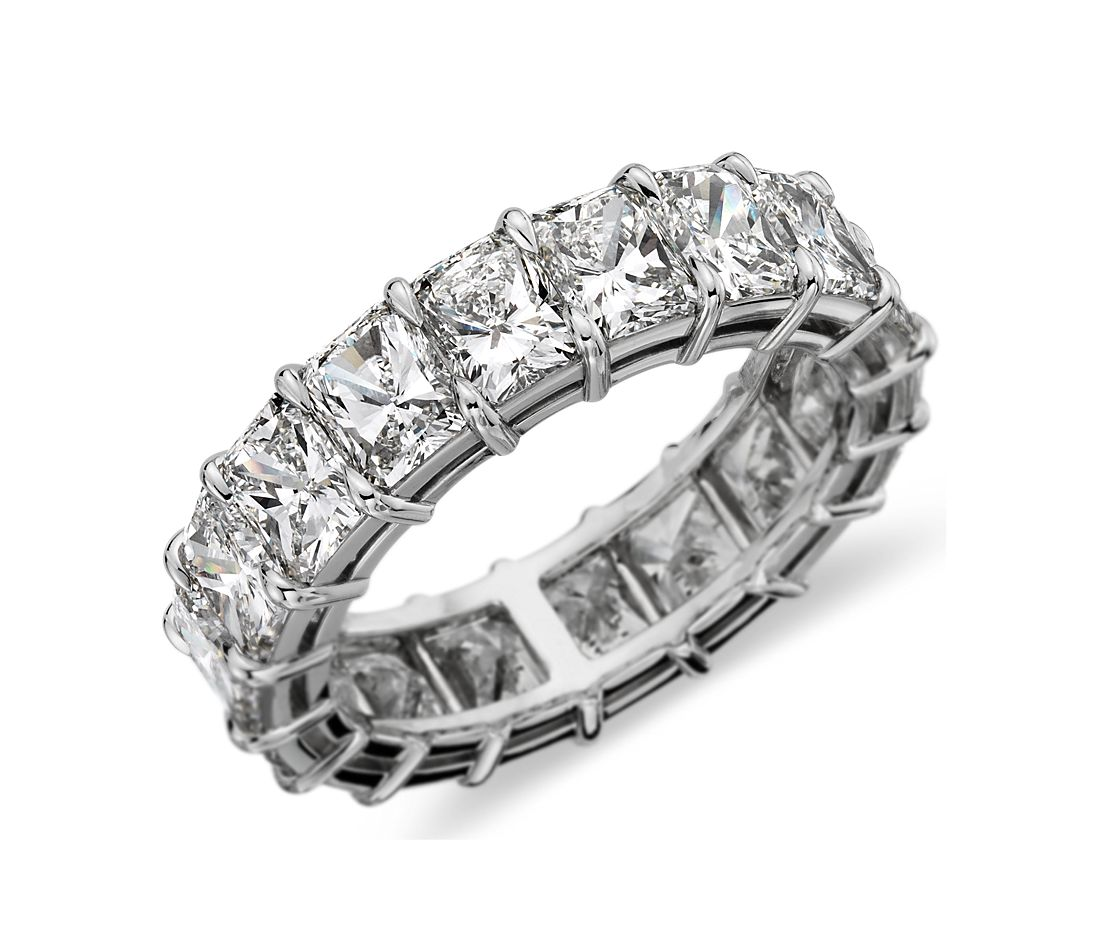 Radiant-Cut Diamond Eternity Ring in Platinum (8  ct. tw.)