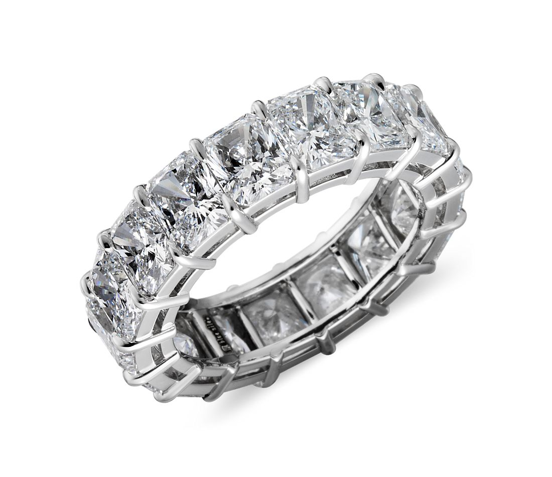 Radiant Cut Diamond Eternity Ring in Platinum (9.00 ct. tw.)