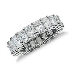 Radiant Cut Diamond Eternity Ring in Platinum (6.00 ct. tw.)
