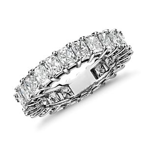 Radiant Cut Diamond Eternity Ring in Platinum (4.00 ct. tw.)