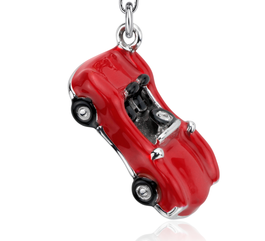 Red Convertible Charm in Sterling Silver