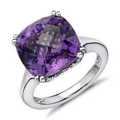 Revised Amethyst Ring in Sterling Silver
