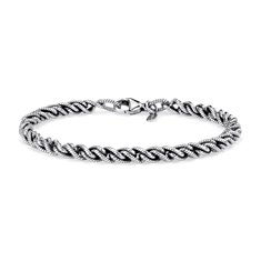 Twisted Bracelet in Sterling Silver