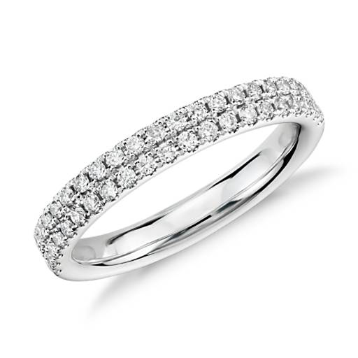 Rialto Pavé Diamond Ring in 14k White Gold
