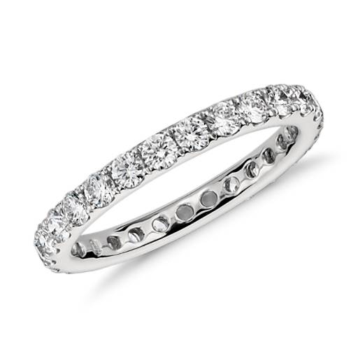 Riviera Pavé Diamond Eternity Ring in Platinum