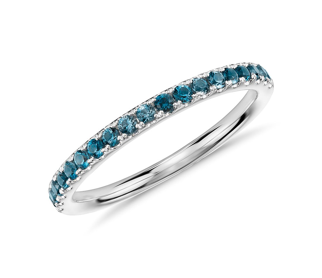 Swiss Blue Topaz Eternity Ring