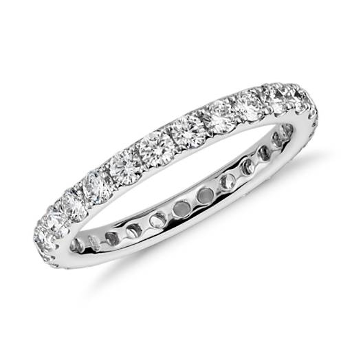 Riviera Diamond Eternity Ring in 14k White Gold (1 ct. tw.)