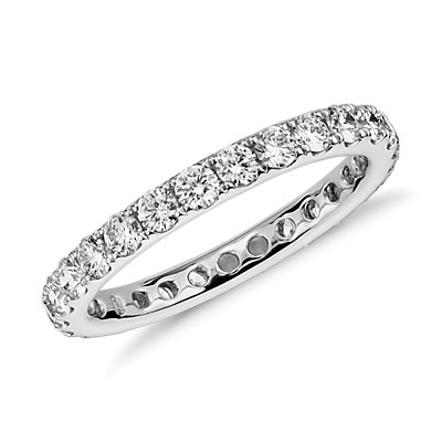 NEW Riviera Diamond Eternity Ring in 14k White Gold