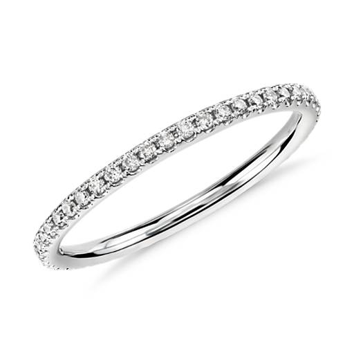 NEW Riviera Petite Micropavé Diamond Eternity Ring in 14K White Gold (1/4 ct. tw.)