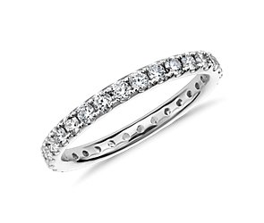 Riviera Pavé Diamond Eternity Ring in 18k White Gold (3/4 ct. tw.)