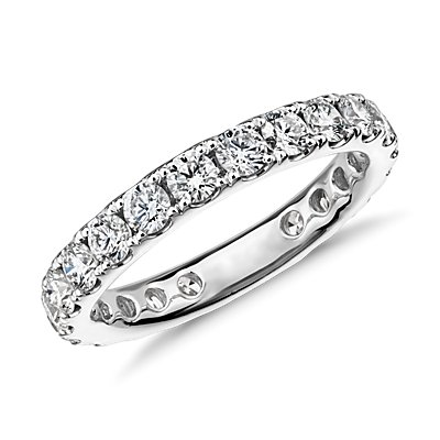 Riviera Pavé Diamond Eternity Ring in 18k White Gold (1.5 ct. tw.)