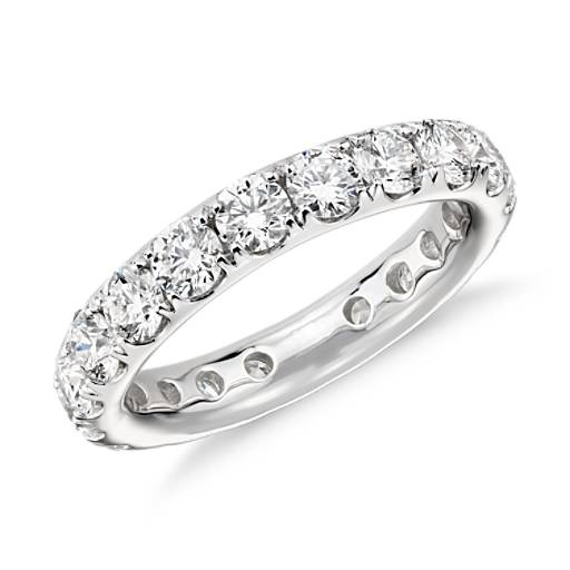 NEW Riviera Pave Diamond Eternity Ring in 18k White Gold (2.5 ct. tw.)