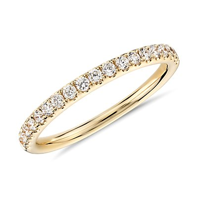 Riviera Pavé Diamond Ring in 18k Yellow Gold (1/4 ct. tw.)
