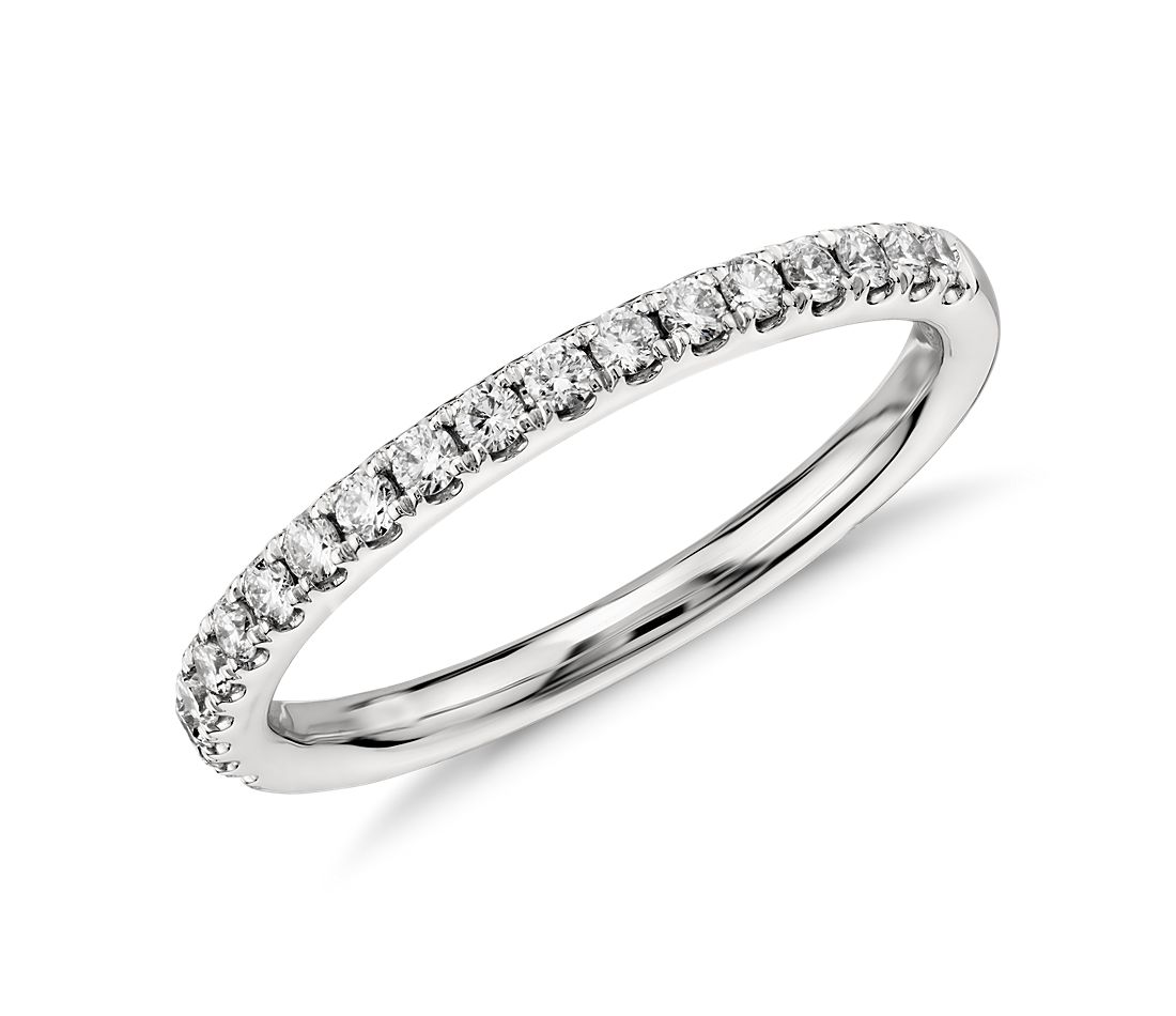 Pavé Bands: Riviera Pavé Diamond Ring In Platinum (1/4 Ct. Tw.)