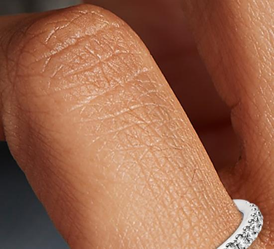 Bague diamant serti pavé Riviera en platine (1/4carat, poids total)