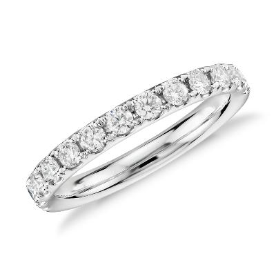 Bague en diamants sertis pavé Riviera en platine (1/2carat, poids total)
